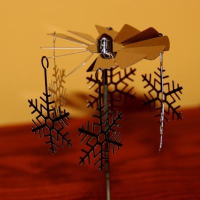 kovové andělské zvonění na čajovou svíčku - vločky