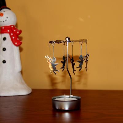 kovové andělské zvonění na čajovou svíčku - andělé