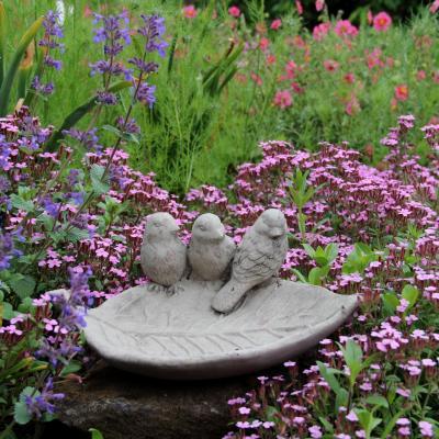 pítko pro ptáčky -  ptáčci na listu