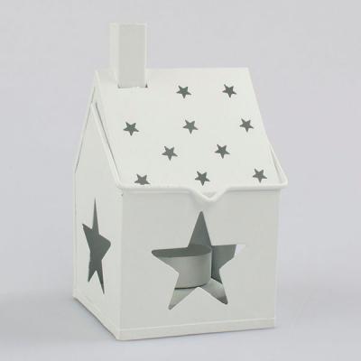 kovový domeček s hvězdou - lucerna