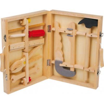 """dětské dřevené nářadí v kufříku """"malý opravář"""""""