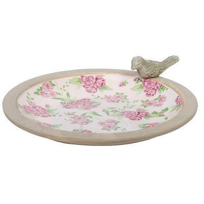 ptačí pítko/koupel růže- patina