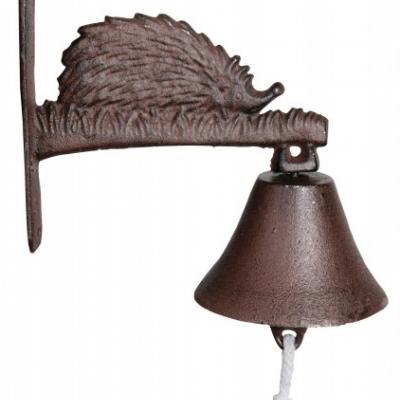 litinový zvonek ježek