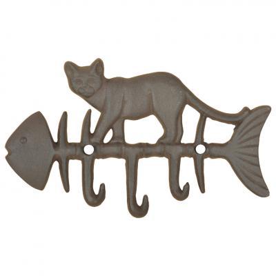 litinový háček kočka/rybí kost