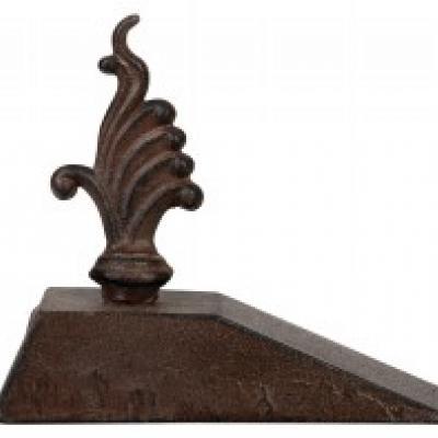 litinová zarážka dveří - ornament