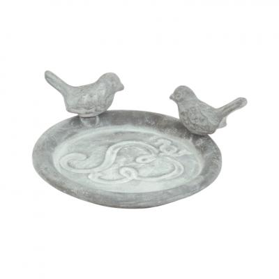 pítko/krmítko s ptáčky šedé