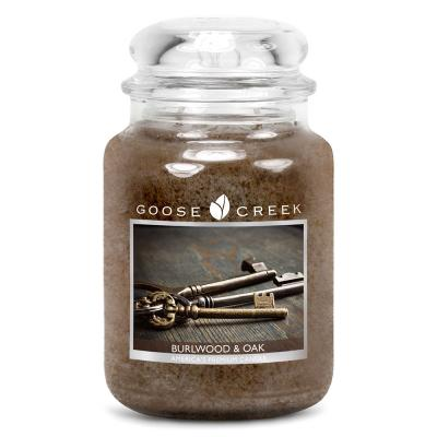 vonná svíčka GOOSE CREEK Burlwood & Oak 680g
